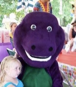 Barney the Dinosaur with Child