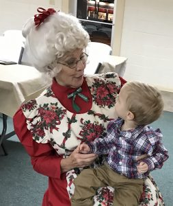 Mrs. Claus with Child